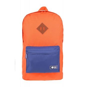Фото Рюкзак SETTLEMENT (SETTLEMENT-ORANGE/NAVY), Цвет - оранжевый, темно-синий, Городские рюкзаки