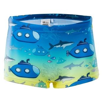 Фото Плавки SUBMARINE KIDS (SUBMARINE KIDS-BLU GRD/SBM PRN), Цвет - синий, бриюзовый, Плавки и купальники