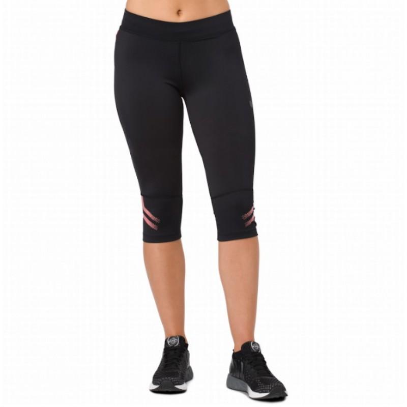 Купить Спортивные штаны весна-лето, Тайтсы 3/4 icon knee tight (154558-0698), Asics, Красный, Мультисезон, Весна-Лето 2018