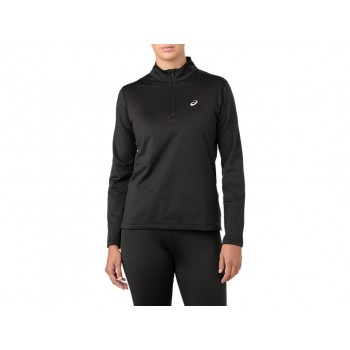 Фото Спортивная футболка с длинным рукавом SILVER LS 1/2 ZIP WINTER TOP (2012A034-001), Цвет - черный, Футболки с длинным рукавом