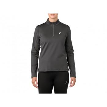Фото Спортивная футболка с длинным рукавом SILVER LS 1/2 ZIP WINTER TOP (2012A034-020), Цвет - темно-серый, Футболки с длинным рукавом