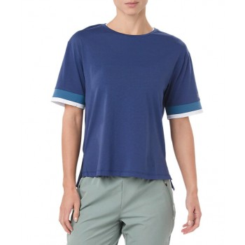 Фото Спортивная футболка MIX FABRIC SS TOP (2032A019-400), Цвет - синий, Спортивные футболки