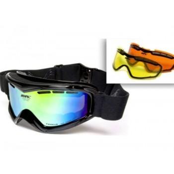 Фото Лыжная маска AVK Cavallo (AVK Cavallo), Цвет - черный, желтый, оранжевый, Маски