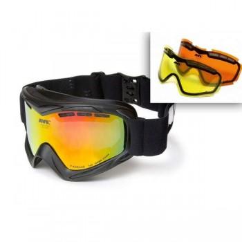 Фото Лыжная маска AVK Cavallo mat (AVK Cavallo mat), Цвет - черный, желтый, оранжевый, Маски