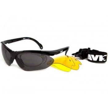 Фото Спортивные очки AVK Esplosivo (AVK Esplosivo Black), Цвет - черный, Очки