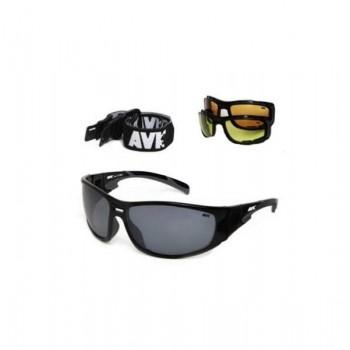 Фото Спортивные очки AVK Miglior (AVK Miglior), Цвет - черный, серый, Очки