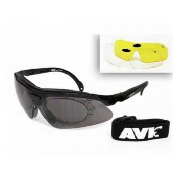 Фото Спортивные очки AVK Veloce Black (AVK Veloce Black), Цвет - черный, Очки