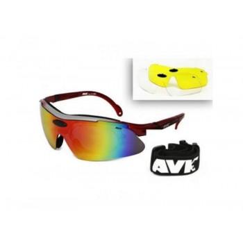 Фото Спортивные очки AVK Veloce Red (AVK Veloce Red), Цвет - красный, Очки