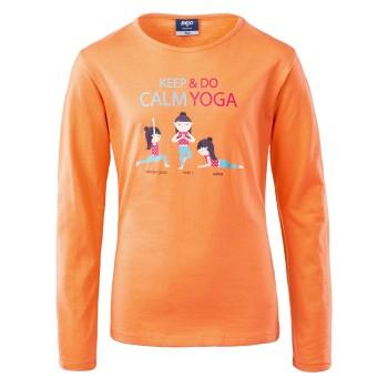 Фото Футболка FUN LS JRG (FUN LS JRG-MELON), Цвет - оранжевый, Футболки