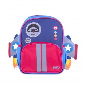 Фото Рюкзак SCHOOLPUFFY (SCHOOLPUFFY-ROCKET DESIGN), Цвет - синий,красный, Городские рюкзаки