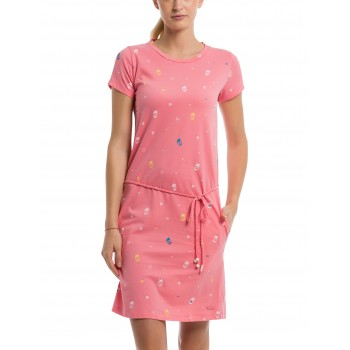 Фото Платье PRINTED JERSEY DRESS (BLWS001960-P1457), Цвет - розовый, Платья