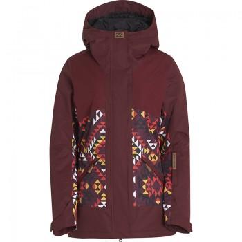 Фото Куртка горнолыжная Jara (F6JF09-4212), Цвет - бордовый, Горнолыжные и сноубордные