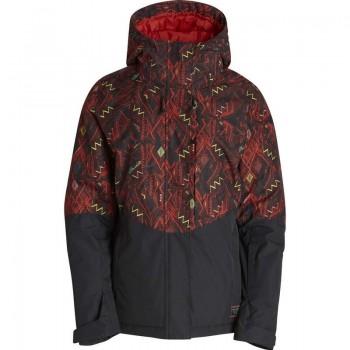 Фото Куртка с/б AKIRA PRINTED (Z6JF12-1332), Цвет - красный, Горнолыжные