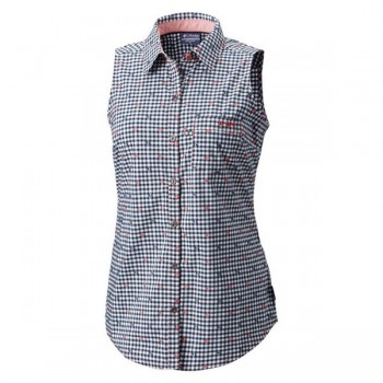 Фото Блуза Super Harborside Woven Sleeveless Shirt (1715671-683), Цвет - синий, Туники и блузы