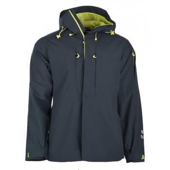 Фото Куртка горнолыжная KAYLE (KAYLE-DK GREY/LIMEADE), Цвет - темно-серый, лайм, Горнолыжные и сноубордные