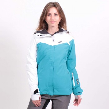 Фото Куртка г/л KEIRA WO'S (KEIRA WS-PETROL/WHITE), Цвет - темно-бирюзовый, белый, Горнолыжные