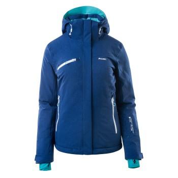 Фото Куртка горнолыжная LILLE WO\'S (LILLE WOS-NAVY/FLO PRINT/GRN), Цвет - темно-синий, зеленый, Горнолыжные и сноубордные