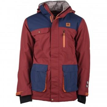Фото Куртка горнолыжная NORMAN (NORMAN-CBR/INSIG BLU/RST ORN), Цвет - бордовый, синий, темно-оранжевый, Горнолыжные / сноубордные