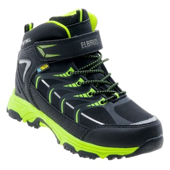 Фото Ботинки SAVAS MID WP JR (SAVAS MID WP JR-BLK/LIME/SLVR), Цвет - черный, зеленый, Ботинки
