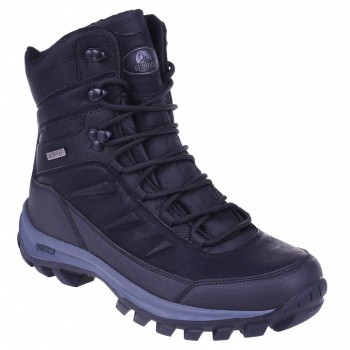 Фото Ботинки SPIKE MID WP (SPIKE MID WP-BLACK/DARK GREY), Цвет - черный, темно-серый, Городские ботинки