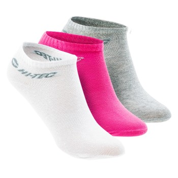 Фото Носки BASAL PACK (BASAL PACK-WHT/LT GRE MLNG/PNK), Цвет - белый, светло-серый, розовый, Носки