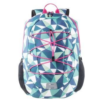 Фото Рюкзак ENZO 18L (ENZO 18L-GREEN TRIANGLE PRINT), Цвет - зеленый, принт, пурпурный, Городские рюкзаки