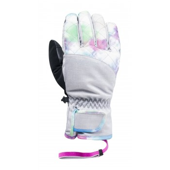 Фото Перчатки горнолыжные LADY HUNI (LADY HUNI-MICRO CHIP/MULTICOL), Цвет - серый, черный, Горнолыжные