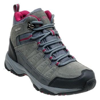 Фото Ботинки LASADO MID WP WO'S (LASADO MID WP WOS-GREY/BLK/FUC), Цвет - темно-серый, черный, фуксия, Городские ботинки