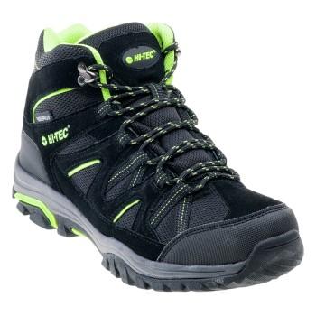 Фото Ботинки RAPOSO MID WP (RAPOSO MID WP-BLK/LIME/DK GRE), Цвет - черный, лайм, темно-серый, Городские ботинки