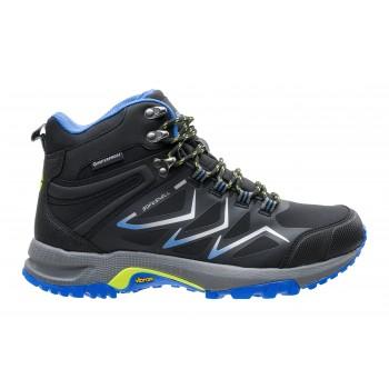 Фото Ботинки REIKO MID WP (REIKO MID WP-BLK/MID GREY/LIME), Цвет - черный, серый, лайм, Городские ботинки