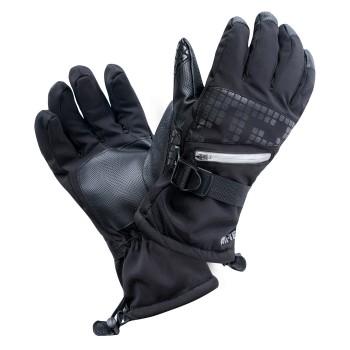 Фото Перчатки горнолыжные RODEN (RODEN-BLACK/GRAY PRINT), Цвет - черный, серый, Горнолыжные перчатки