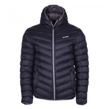 Фото Стеганная куртка SORNE (SORNE-BLK/DK GREY), Цвет - черный, темно-серый, Стеганные куртки