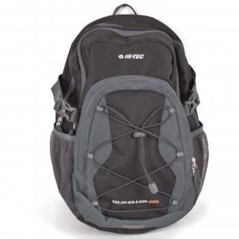 Фото Рюкзак TRAVELLER 25L (TRAVELLER 25L-BLACK/GREY), Цвет - черный, серый, Городские рюкзаки