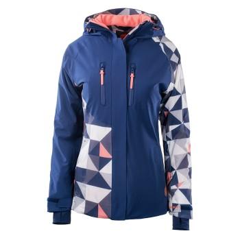 Фото Куртка горнолыжная THEMA W (THEMA W-TRNG NAV PRN/FSN CRL), Цвет - темно-синий, коралловый, принт, Горнолыжные и сноубордные