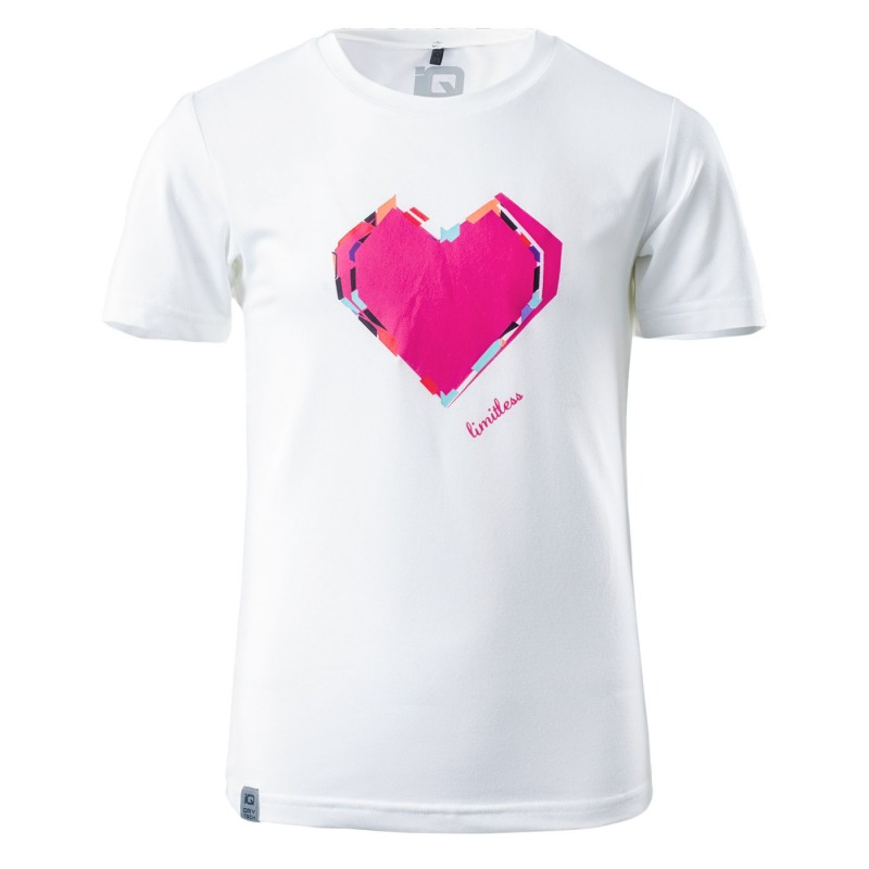 Купить Спортивные футболки, Футболка спортивная sico jrg (SICO JRG-WHITE/PINK YARROW), IQ, Белый, Розовый, Мультисезон, Осень-Зима 2018-2019