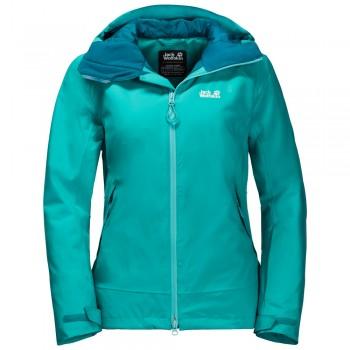 Фото Горнолыжная куртка EXOLIGHT PEAK JKT W (1110611-1105), Цвет - бирюзовый, Горнолыжные и сноубордные