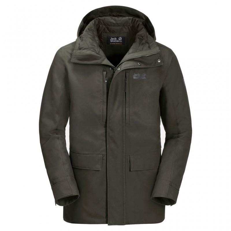 Купить Городские куртки, Куртка утепленная west coast jacket (1110811-5100), Jack Wolfskin, Хаки, Осень, Зима, Осень-Зима 2019-2020