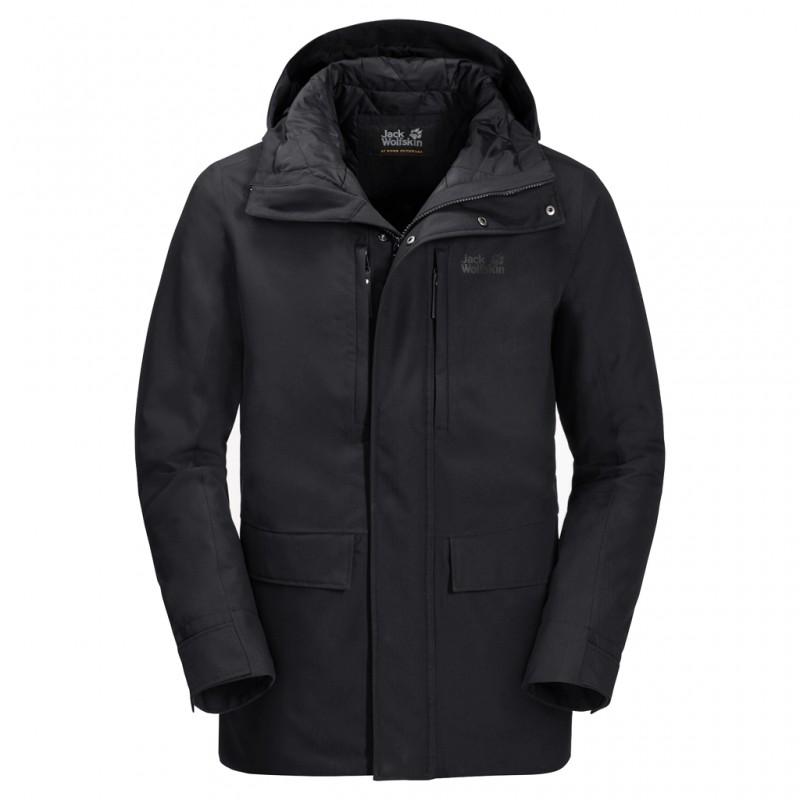 Купить Городские куртки, Куртка утепленная west coast jacket (1110811-6000), Jack Wolfskin, Черный, Осень, Зима, Осень-Зима 2019-2020