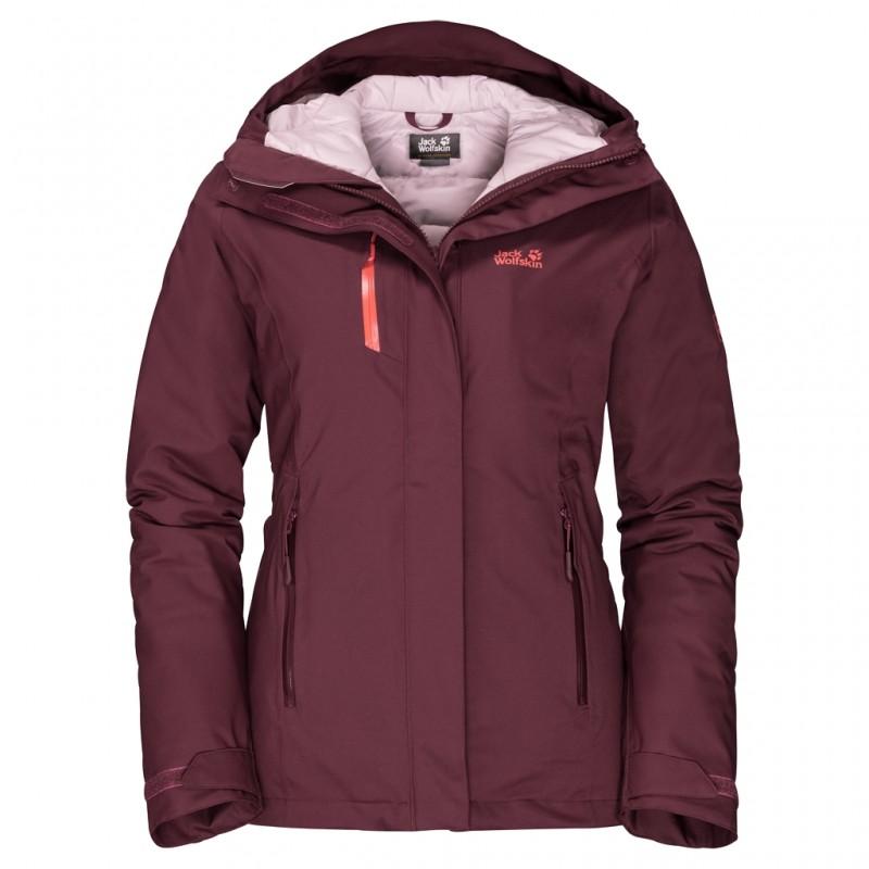 Купить Пальто, Пуховик синтетический troposphere jacket w (1111601-2740), Jack Wolfskin, Бордовый, Осень, Зима, Осень-Зима 2019-2020