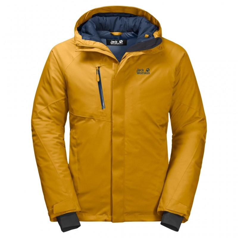 Купить Городские куртки, Пуховик синтетический troposphere jacket m (1111711-3015), Jack Wolfskin, Желтый, Осень, Зима, Осень-Зима 2019-2020