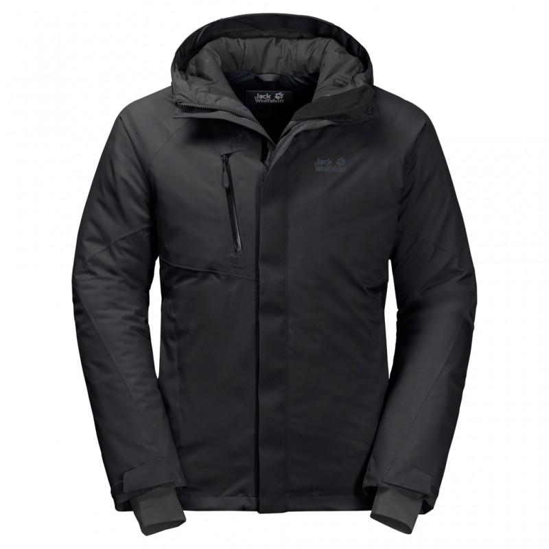 Купить Городские куртки, Пуховик синтетический troposphere jacket m (1111711-6000), Jack Wolfskin, Черный, Осень, Зима, Осень-Зима 2019-2020
