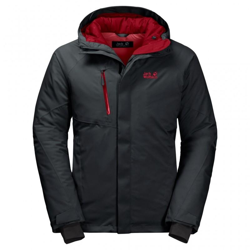 Купить Городские куртки, Пуховик синтетический troposphere jacket m (1111711-6350), Jack Wolfskin, Темно-Серый, Осень, Зима, Осень-Зима 2019-2020