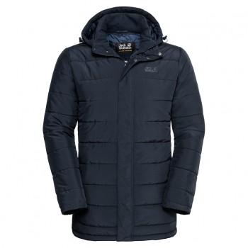Фото Пуховик синтетический SVALBARD COAT MEN (1204501-1010), Цвет - темно-синий, Городские куртки
