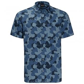 Фото Тенниска Hot Chili Marble Shirt (1402322-7717), Цвет - синий, Поло