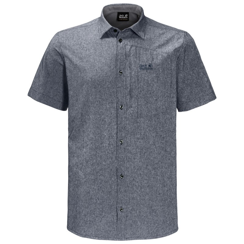 Купить Короткий рукав, Тенниска barrel shirt (1402691-6505), Jack Wolfskin, Серый, Весна-Лето 2019