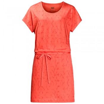 Фото Платье Shibori Dress (1504302-7743), Цвет - коралловый, Платья