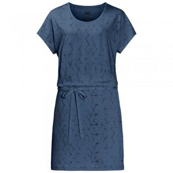 Фото Платье Shibori Dress (1504302-7863), Цвет - синий, Платья