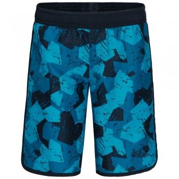 Фото Шорты Marble Shorts Boys (1607311-7418), Цвет - бирюзовый, Шорты городские
