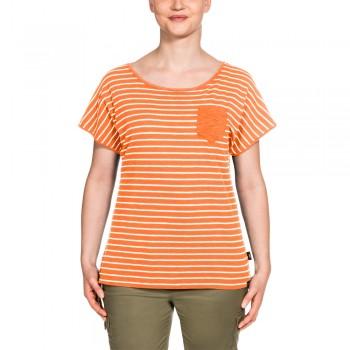 Фото Футболка TRAVEL STRIPED T WOMEN (1805691-9615), Цвет - оранжевый, Футболки