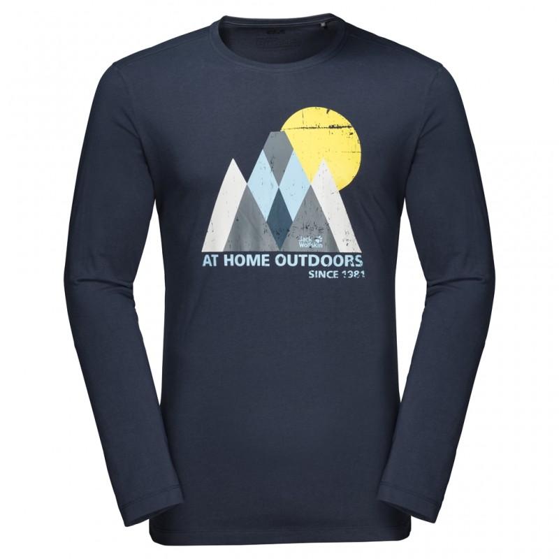Купить Футболки с длинным рукавом, Футболка с длинным рукавом mountain longsleeve m (1806771-1010), Jack Wolfskin, Темно-Синий, Осень-Зима 2019-2020
